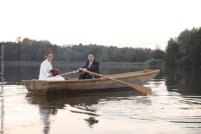 Hochzeit am See, Brautpaarshooting