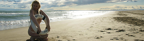 Outdoor-Shooting am Strand oder See